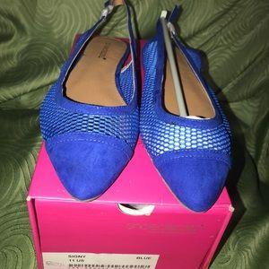 Shoe Dazzle Royal Blue Flats